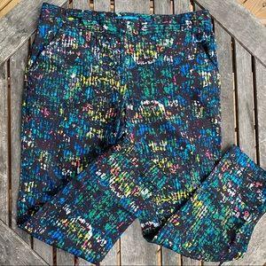 Derek lam black Multicolor abstract Capri pants